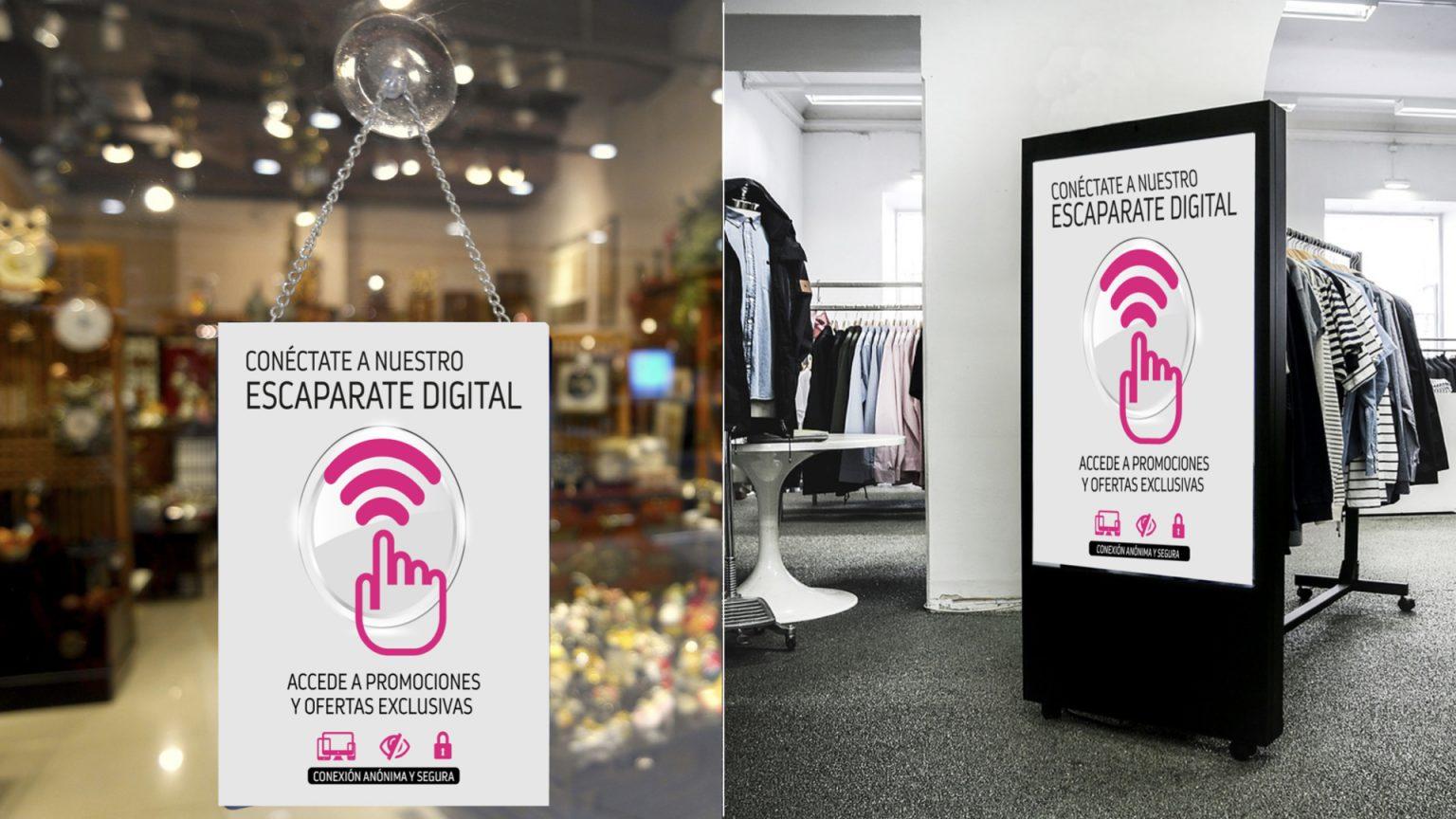 Escaparate digital comercio